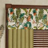 Jamaica Tailored Valance Multi Warm 52 x 17