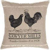 Sawyer Mill Poultry Pillow Natural 18 Square