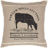 Sawyer Mill Cow Pillow Natural 18 Square