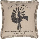 Sawyer Mill Flanged Windmill Pillow Natural 18 Square