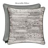 Brandon Geometric Piped Pillow Silver 20 Square