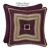 Amethyst Tufted Pillow Plum 18 Square