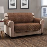Angier Secure Fit Furniture Protector Cocoa Loveseat