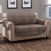Angier Secure Fit Furniture Protector Taupe Loveseat