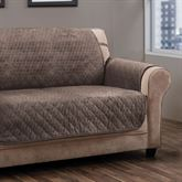 Angier Secure Fit Furniture Protector Taupe Extra Long Sofa