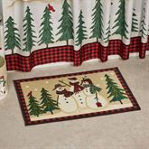 Snowmen Gathering Bath Rug Tan 30 x 20