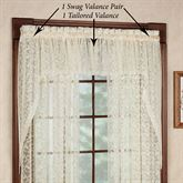 Bridal Lace Swag Valance Pair  60 x 38