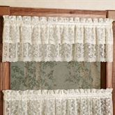 Bridal Lace Ruffled Valance 60 x 12