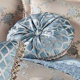 Blooming Treillage Round Pillow Periwinkle Round