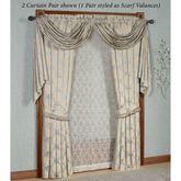 Blooming Treillage Curtain Pair Periwinkle 84 x 84