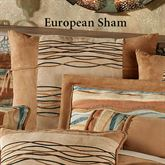 Oasis Embroidered European Sham Saddle Brown