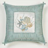 Coastal Dream Embroidered Pillow Multi Cool 18 Square