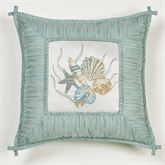 Coastal Dream Embroidered Pillow Multi Cool 18 Square