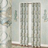 Coastal Dream Shell Grommet Curtain Pair Multi Cool 84 x 84