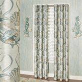 Coastal Dream Shell Grommet Curtain Pair Multi Cool 84 x 84
