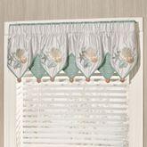 Coastal Dream Embroidered Valance Multi Cool 60 x 18