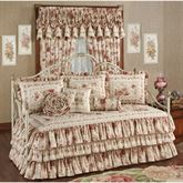 Heirloom Rose Ruffled Daybed Set Fawn Daybed