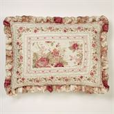 Heirloom Rose Ruffled Quilted Sham Fawn