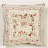 Heirloom Rose Tufted Pillow Fawn 18 Square