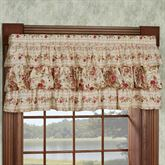 Heirloom Rose Ruffled Valance Fawn 60 x 19