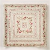 Heirloom Rose European Pillow with Sham Fawn