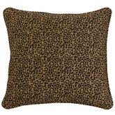 San Angelo Leopard Print European Sham Multi Warm