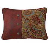 San Angelo Piped Rectangle Pillow Multi Warm