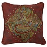San Angelo Piped Square Pillow Multi Warm 18 Square