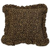 San Angelo Ruffled Square Pillow Multi Warm 18 Square