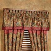 San Angelo Gathered Valance Multi Warm 84 x 18