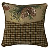 Crestwood Enveloped Square Pillow Saddle Brown 18 Square