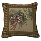 Crestwood Piped Square Pillow Saddle Brown 18 Square