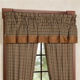 Houndstooth Gathered Valance Saddle Brown 84 x 18