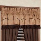 Barbwire Gathered Valance Chocolate 84 x 18