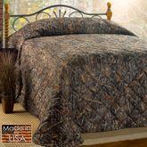 Conceal Brown Bedspread Multi Warm