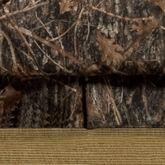 Conceal Brown Kick Pleat Bedskirt Multi Warm