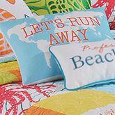 Tropic Escape Tailored Rectangle Pillow White