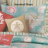 Santa Catalina Quilted Sham Turquoise Standard