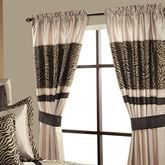 True Safari Tailored Wide Curtain Pair Beige 104 x 84