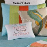 Washed Ashore Quilted Sham Multi Jewel Standard