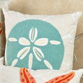 Washed Ashore Sand Dollar Pillow Linen 18 Square
