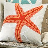 Washed Ashore Starfish Pillow Linen 18 Square