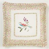 Sweet Tweet Embroidered Sham Light Cream European