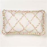 Sweet Tweet Lattice Flanged Pillow Light Cream Rectangle