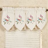 Sweet Tweet Layered Valance Light Cream 60 x 20