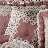 Memories Tufted Square Pillow Blush 18 Square