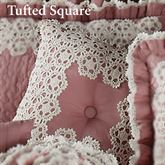 Memories Tufted Square Pillow Blush 18 Square