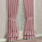 Memories Crochet Ruffled Curtain Pair Blush