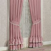 Memories Crochet Ruffled Curtain Pair Blush