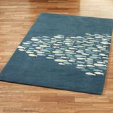 Schooled Fish Rectangle Rug